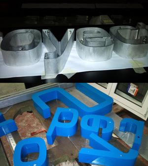 letras de aluminio lacadas