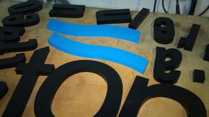 letras corporeas en PVC